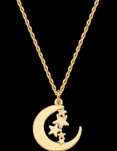 Naszyjnik z księżycem i gwiazdkami