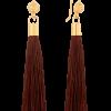 Kolczyki z brązowym chwostem