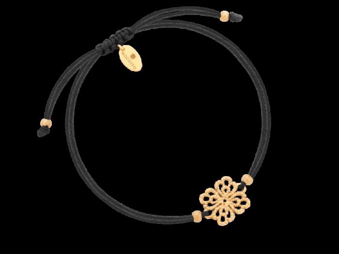 Bransoletka na sznurku z kwiatuszkiem